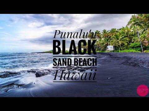 Punalu'u Black Sand Beach, Big Island, Hawaii (4K Aerial Drone & GoPro Footage)