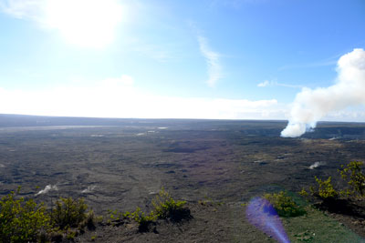 Halema'uma'u crater from the Jaggar Museum