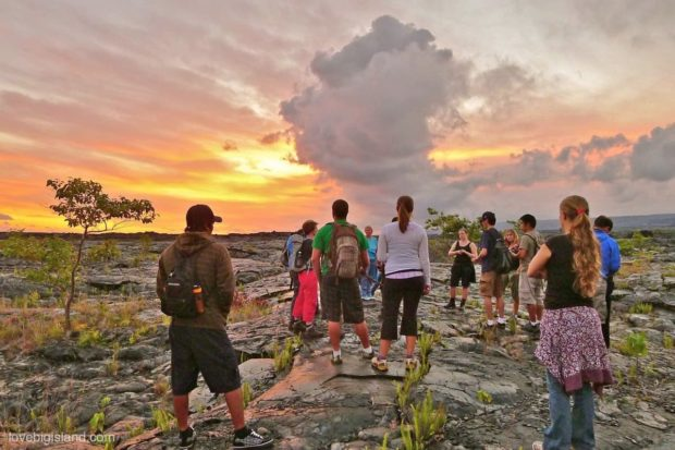 Lava tours on the Big Island