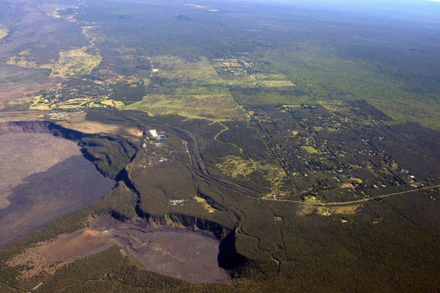 volcano village aerial photo
