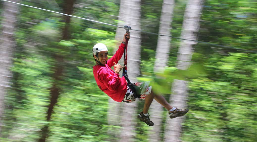 Ziplining on the Big Island