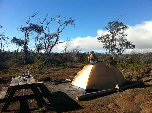 The Kulanaokuaiki Campsite in the Hawaii Volcanoes National Park
