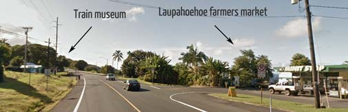 laupahoehoe farmers market turnoff from highway 11