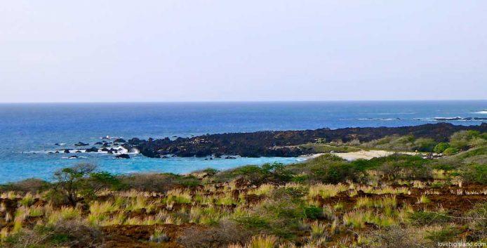 White sand beach at Kua Bay