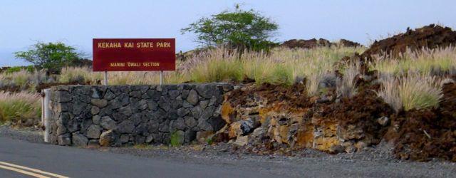 Kua Bay entrance