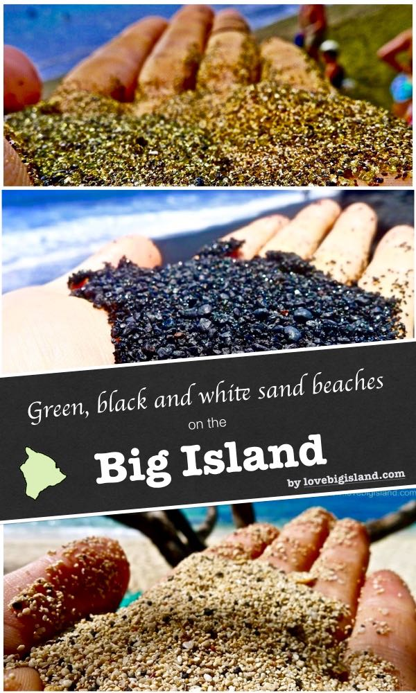 beaches, big island, hawaii, popular, green sand, white sand, black sand