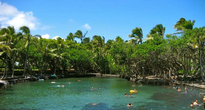 big island hot spring hot pond