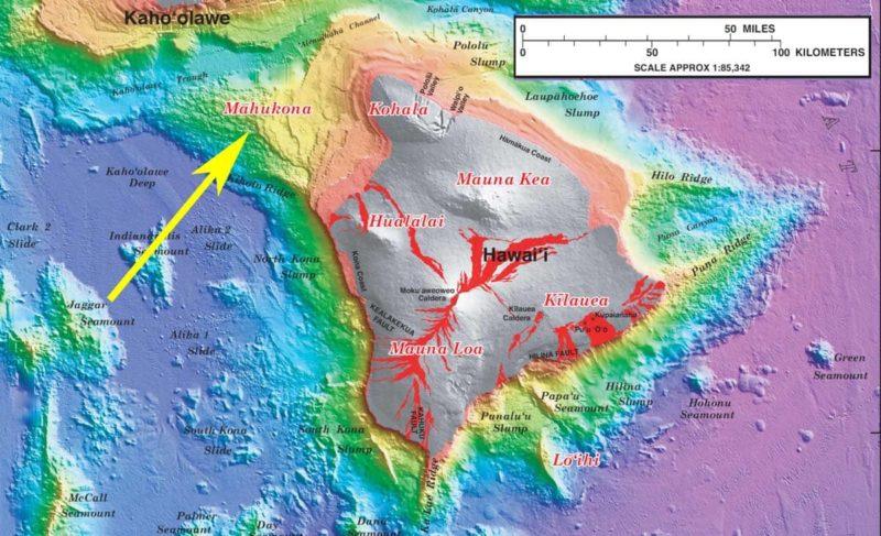 Bathymetric map of the Big Island