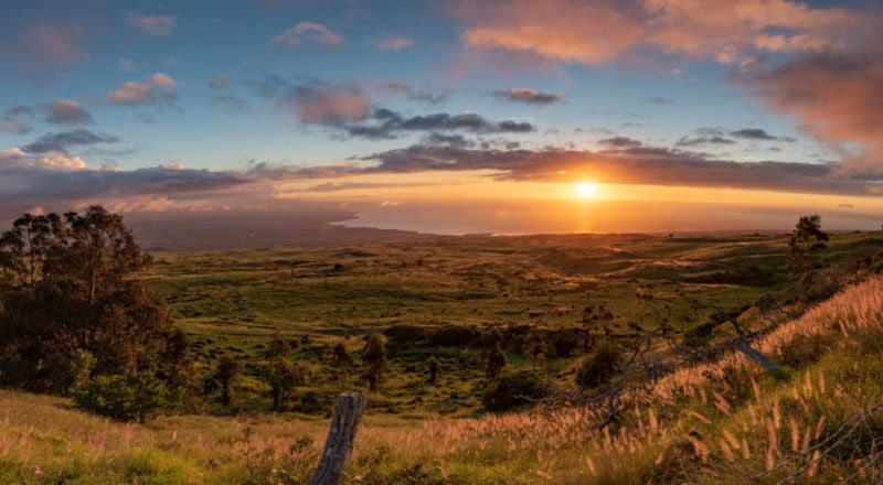 kohala coast sunset
