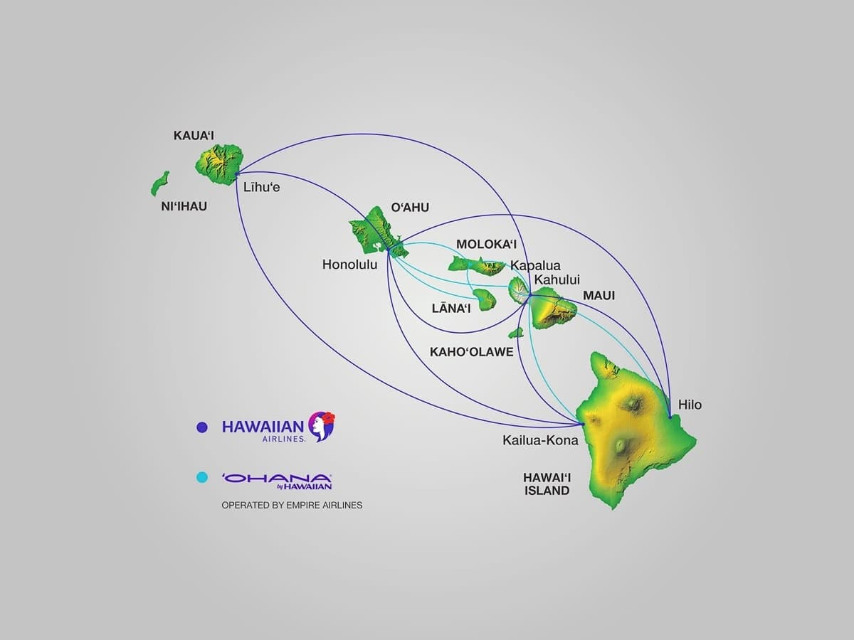 Inter Island Flights Guide for Hawaii: all airlines compared on hainan airlines route map, vanguard airlines route map, southwest airlines route map, sun country route map, united airlines route map, qantas airlines route map, frontier airlines route map, british airways route map, american airlines route map, hawaiian airlines route map, airtran route map, air india route map, skywest airlines route map, delta route map, air berlin route map, jetblue route map, iberia route map, alaska airlines service map, allegiant airlines route map,