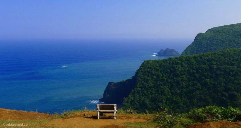Honokane Nui Valley, pololu, big island, bench, hawaii