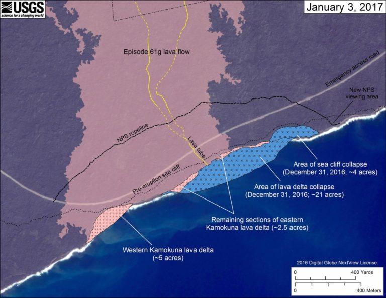 Kamokuna ocean entry map