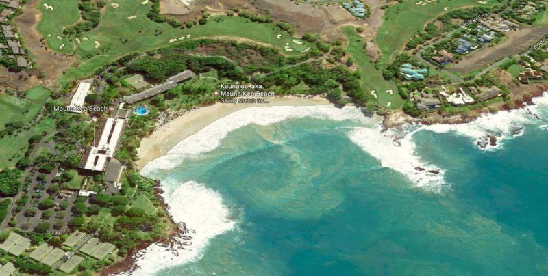 aereal, mauna kea beach, big island
