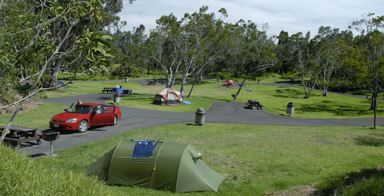 Nāmakanipaio Campground. Photo credit: NPS.gov