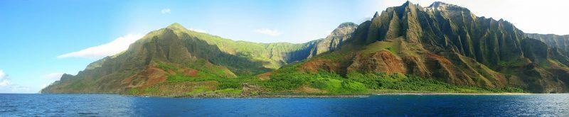 Panorama of the Nāpali Coast