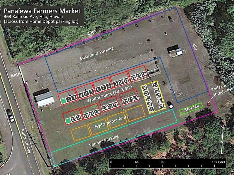 panaewa farmers market, overview, big island, Hilo, Farmers Market