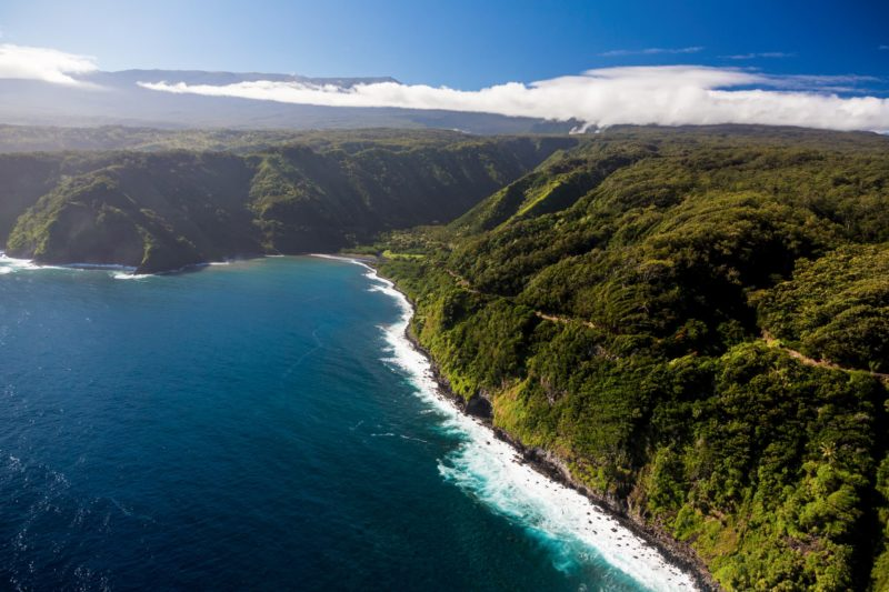 Aerial of the Road to Hana