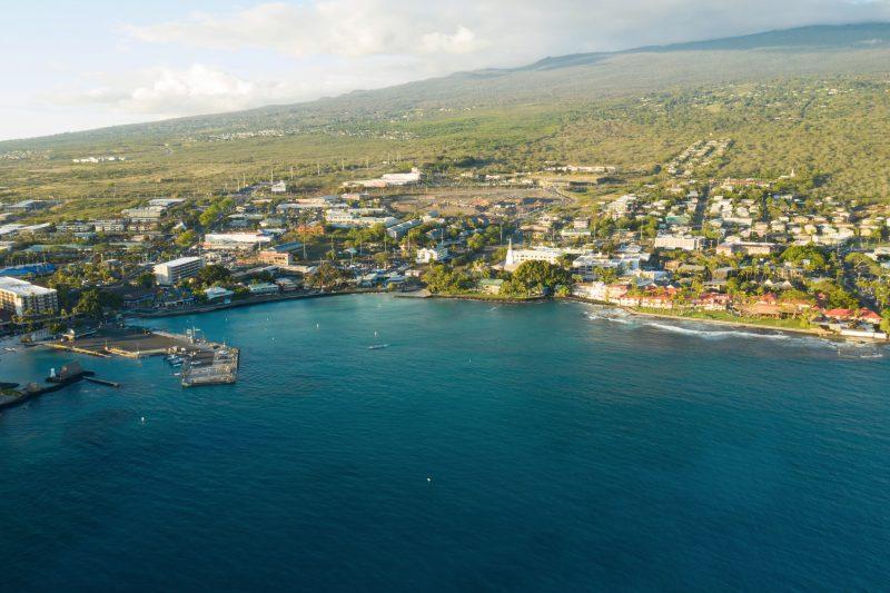 Aerial view of Kailua-Kona