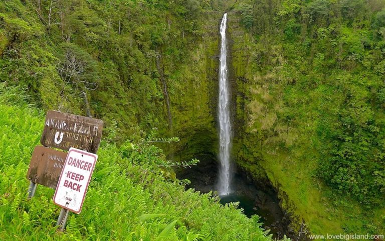 Akaka falls on the Big Island