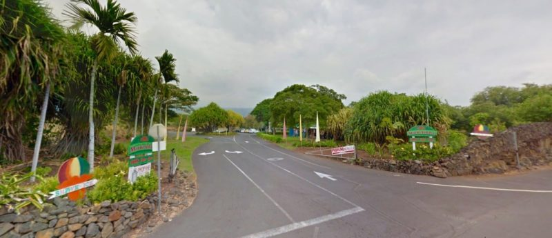 Alii garden market place entrance as seen from Ali'i Drive. Image credit: google streetview