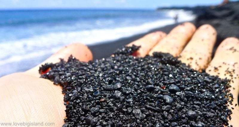 Black Sand At The New Beach Kalapana