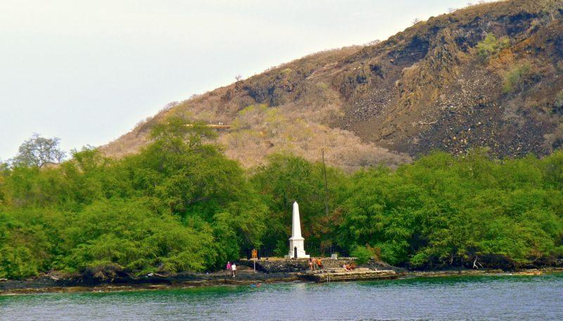 The Captain Cook Monument on Kealakekua Bay