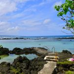Carlsmith beach park in Hilo on the Big Island of hawaii
