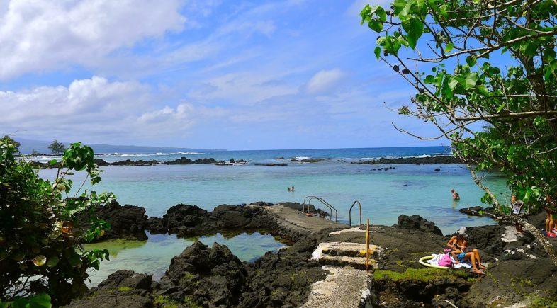 Carlsmith beach park in Hilo on the Big Island of hawaii