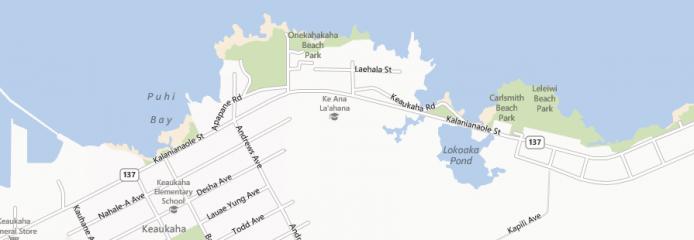Carlsmith beach park (four miles) in Hilo on the Big Island