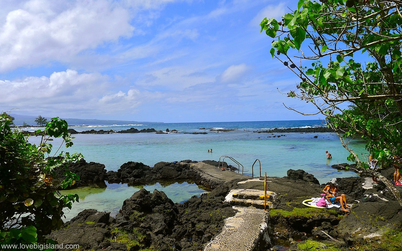 Carlsmith beach park (four miles) in Hilo