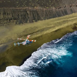 green sand beach helicopter
