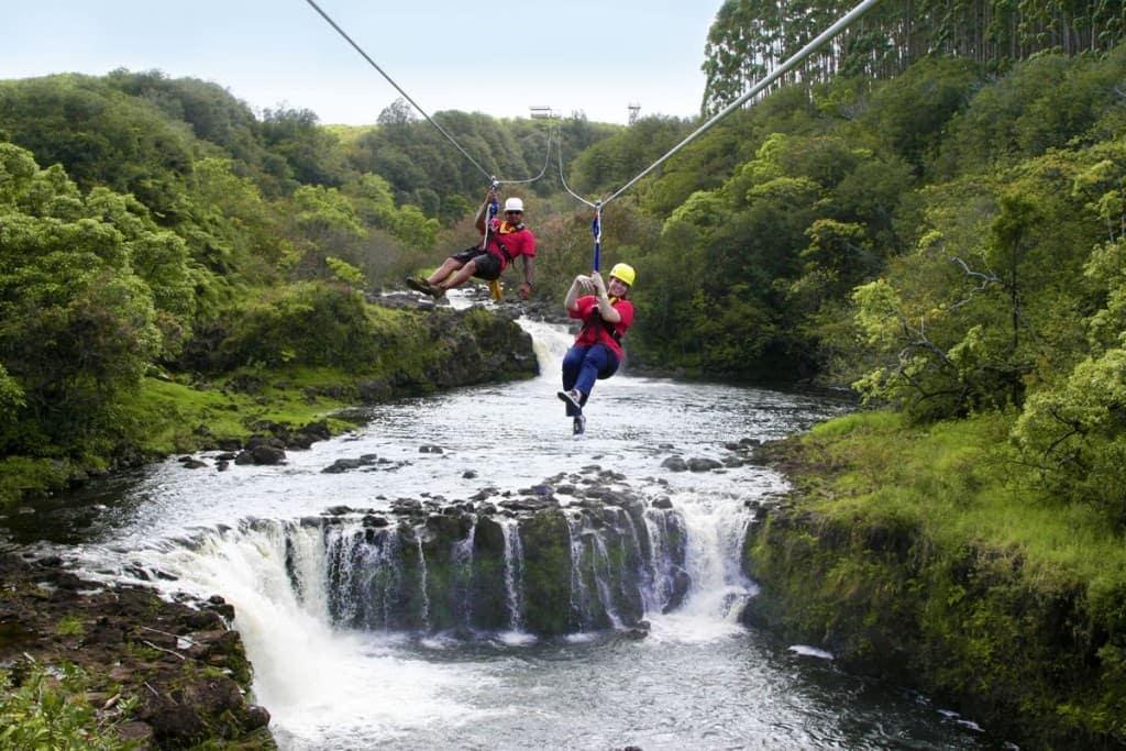 Umauma Falls 4-Line Express Zipline Tour