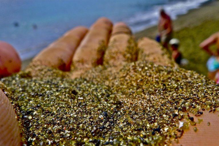 Green sand from Papakolea Beach