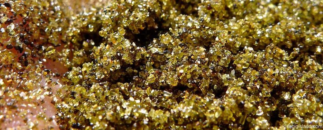green sand, olivine