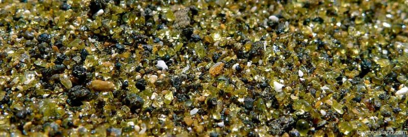 green sand beach, olivine, sand