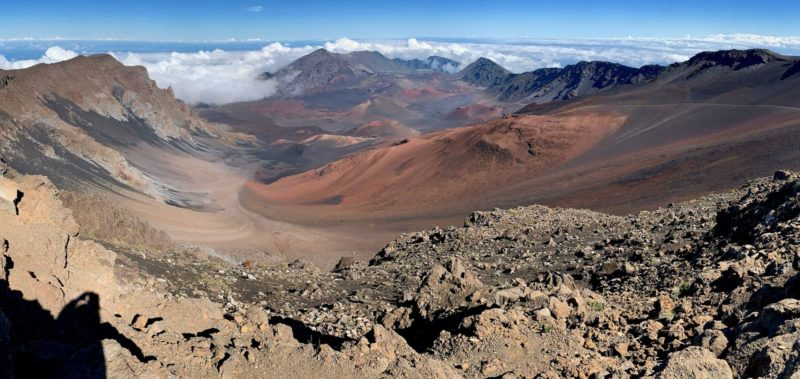Panorama of the Haleakala summit crater.