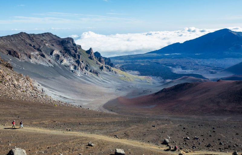 Hiking trail along Haleakala Crater