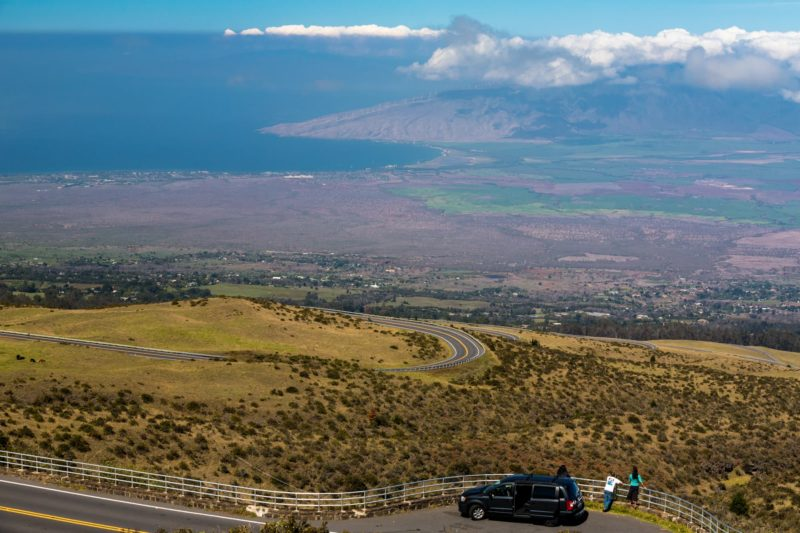 Scenic overlook point on the Haleakala Crater Road
