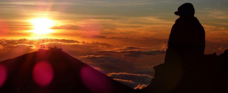 Sunsets are just as spectacular as sunrises at Haleakala (Maui)