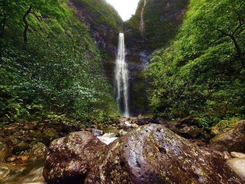 The 300 ft (91 m) Hanakapi'ai Falls