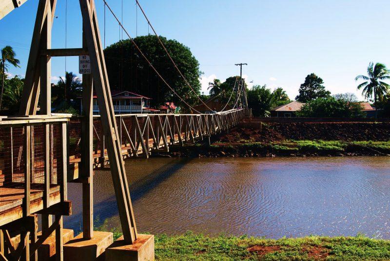 The Hanapepe Swinging bridge is a historic suspension bridge that was built in 1911