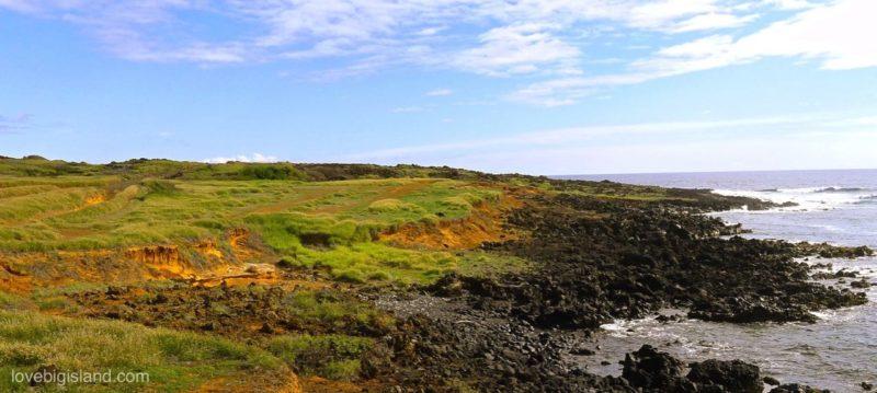 green sand beach, access, big island, hawaii, hiking, walking