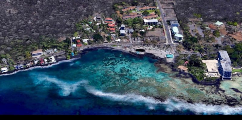 kahaluu beach park, snorkeling, big island, beach park