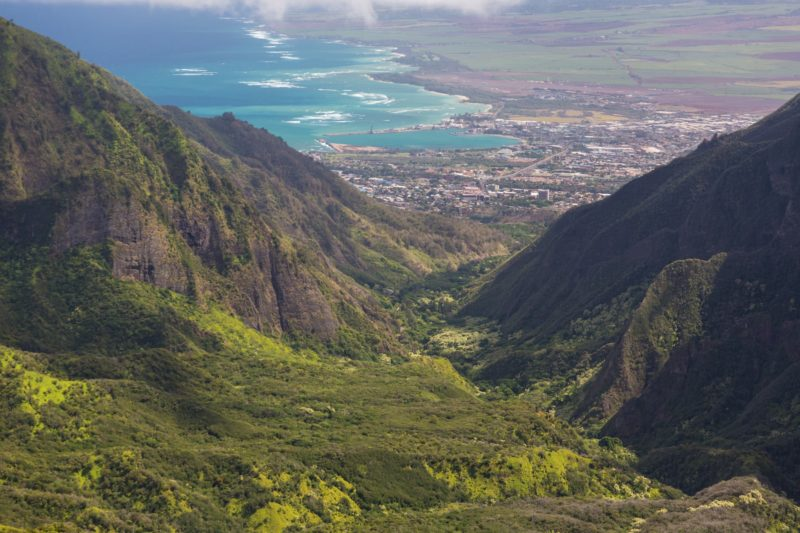 Kahului from Iao Valley
