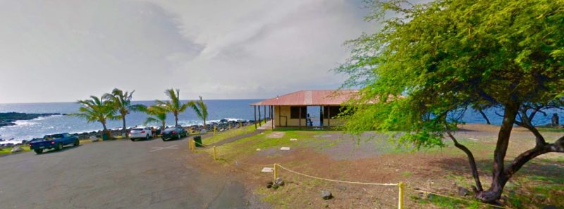 kapa'a beach park, big island, hawaii, whale watching