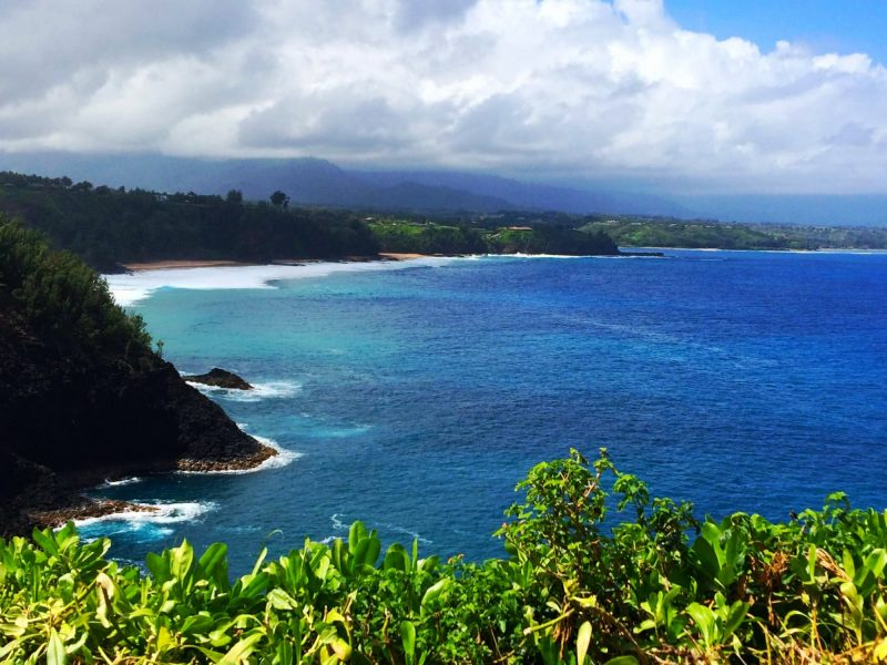 Kauapea beach from the Kilauea lighthouse