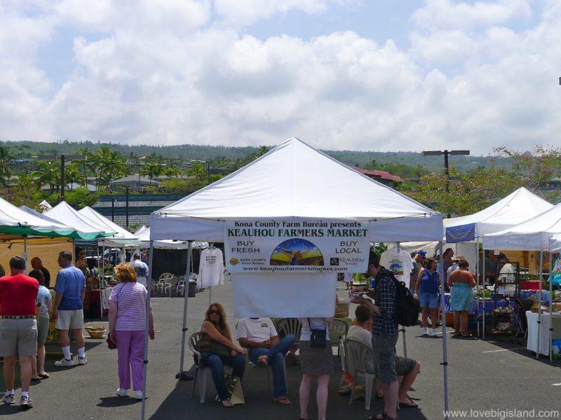 The Keauhou farmers market on the Big Island of Hawaii