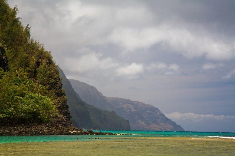 Keʻe beach in Haena State Park