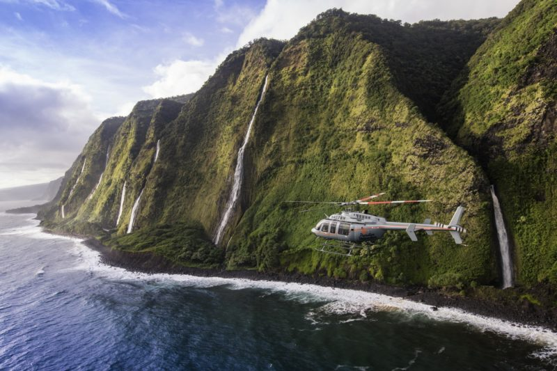 Kohala coast waterfall helicopter tour