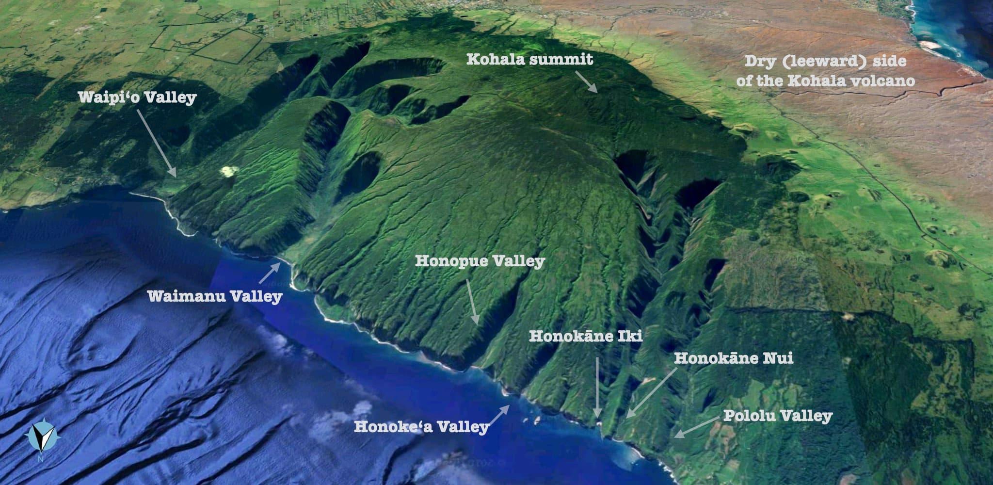 Kohala Hawaii Map.Pololu Valley The Lookout The Hike And The Black Sand Beach